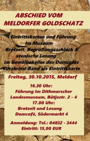 Abschied vom Meldorfer Goldschatz - Plakat
